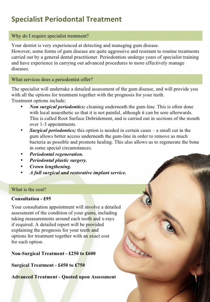 Patient Information Leaflet for Perio p3