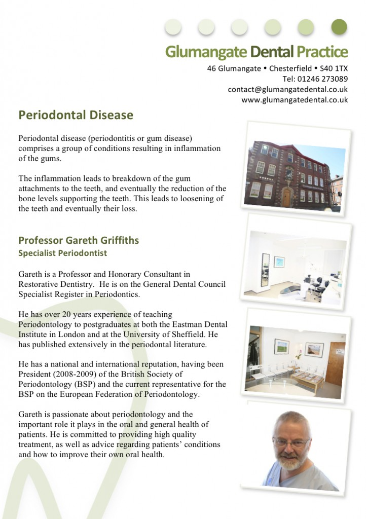 Patient Information Leaflet for Perio p1